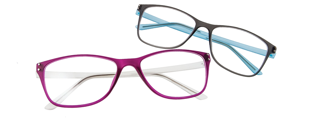 Float-Milan glasses frames in pink and blue