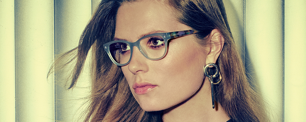 Woman wearing Nine West eyeglasses