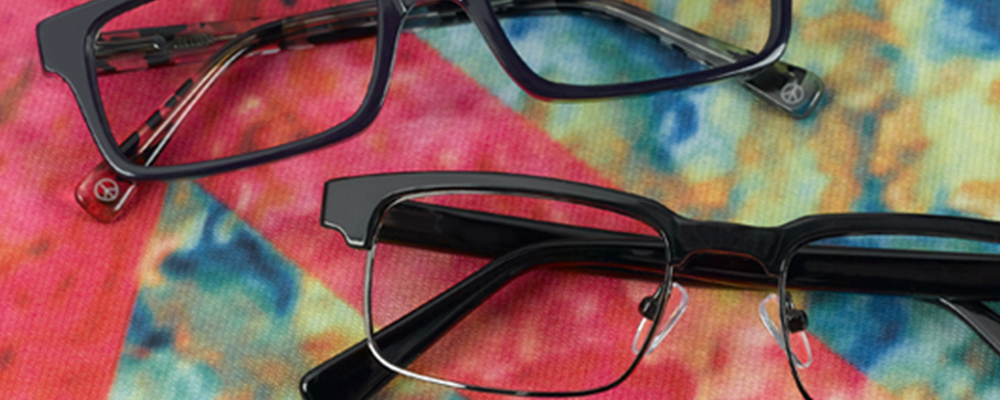 Peace brand eyewear including prescription lenses