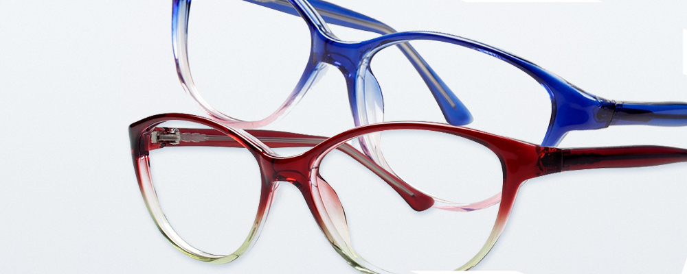 Two pairs of Modern Plastics eyeglass frames
