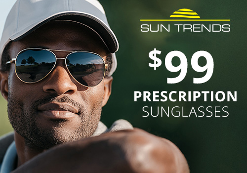 Discount pricing on prescription sunglasses starts at $99 at Wisconsin Vision