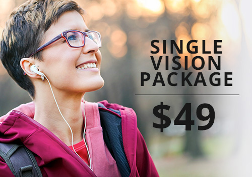 Discount price on single vision eyeglasses in Wisconsin