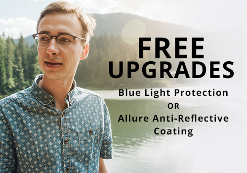 Free lens treatment upgrade for eyeglasses in Wisconsin
